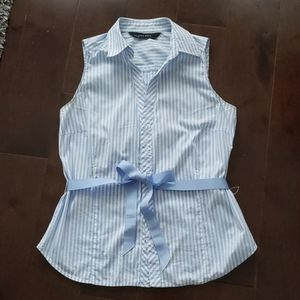 Zara sleeveless striped shirt